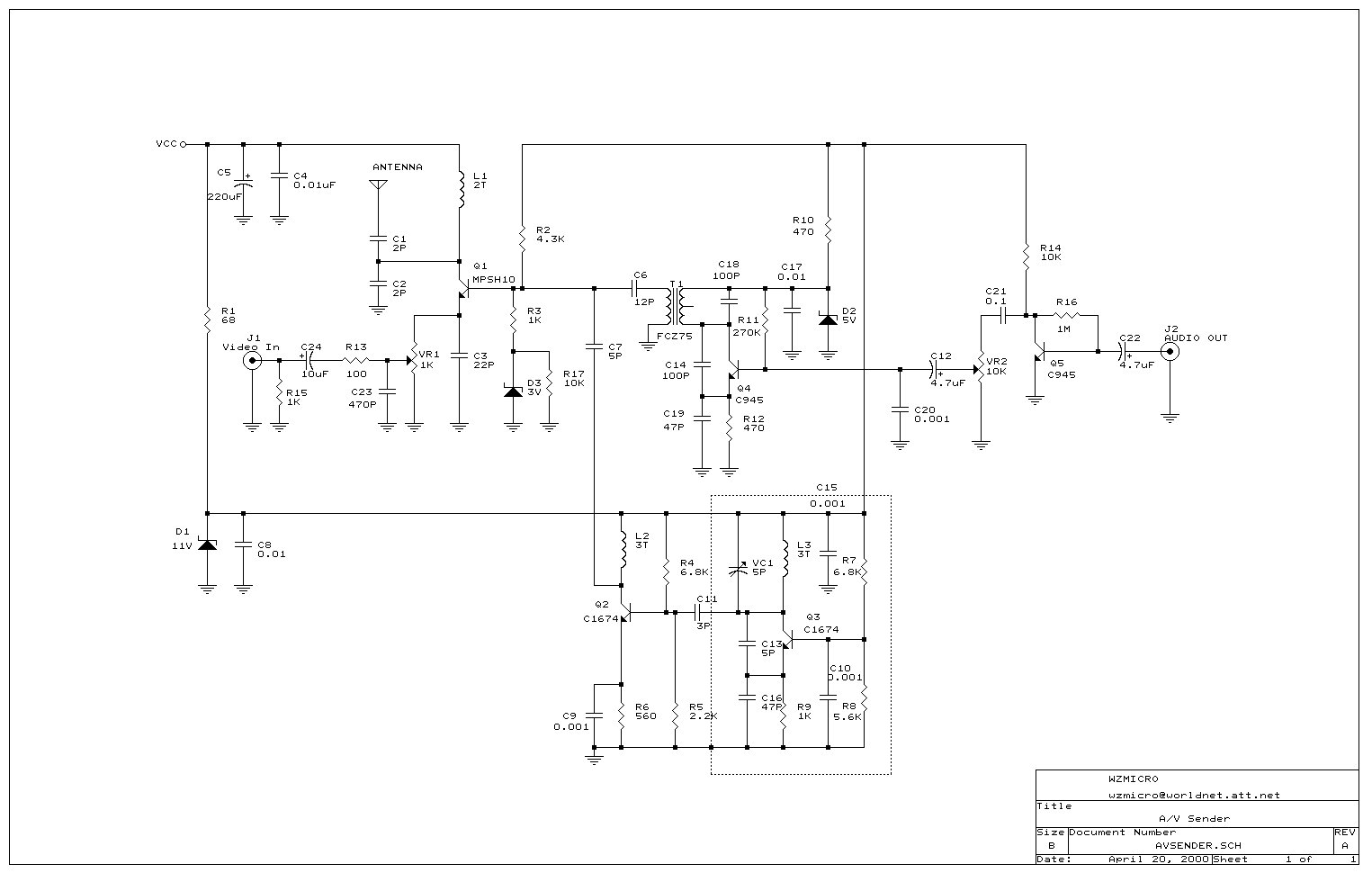 Audio Video Transmitter Schematic - Wiring Diagram Show on wifi transmitter schematic, vlf transmitter schematic, rf transmitter schematic, cellular transmitter schematic, am transmitter schematic, bluetooth transmitter schematic, television transmitter schematic, hf transmitter schematic, shortwave transmitter schematic, 900 mhz transmitter schematic, elf transmitter schematic, tv transmitter schematic, cw transmitter schematic, radio transmitter schematic, fm transmitter schematic,