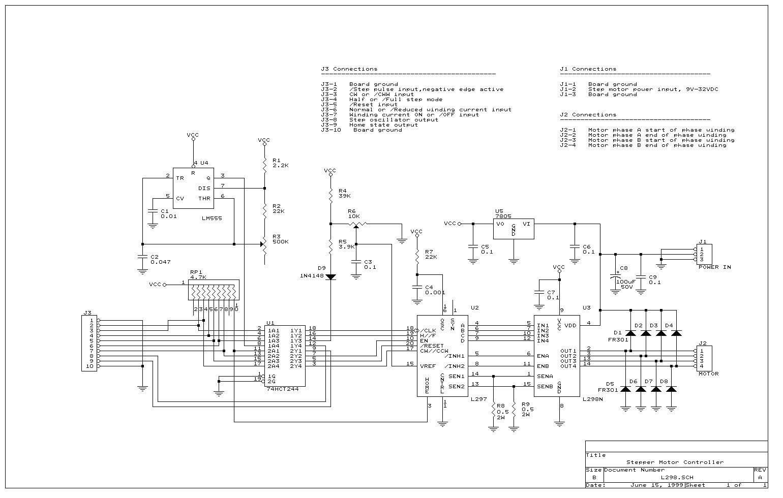 Stepper Motor controller|L298|L297 on